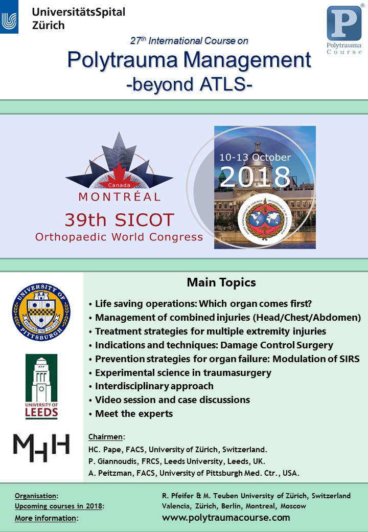 Montreal OWC 2018 - Polytrauma Course | SICOT